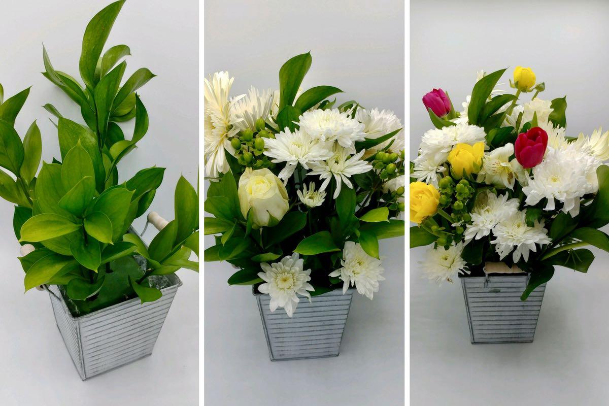 DIY Floral Arrangement for Easter Table Decorations