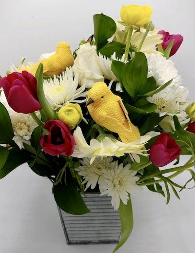 DIY Floral Arrangement Final Touches