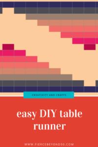 easy DIY table runner