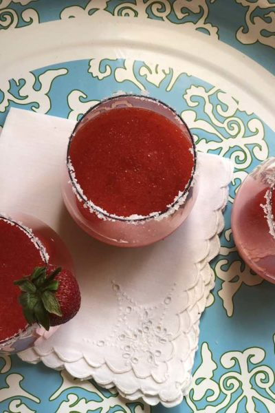 Mexican fiesta strawberry margarita