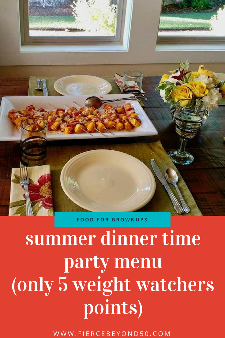 Perfect Make Ahead Summer Dinner Party Menu (Just 5 Weight Watchers Points!)