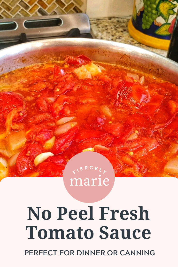 Tomato Sauce Recipe with Fresh Tomatoes (No Peeling Required!)