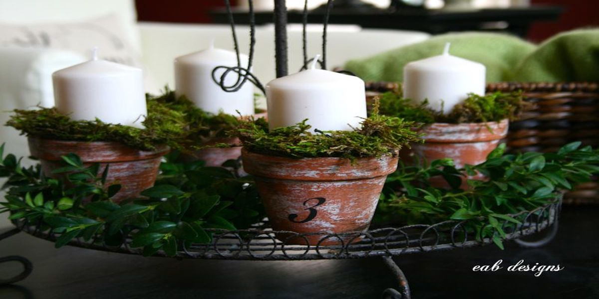 Pottery Advent Wreath