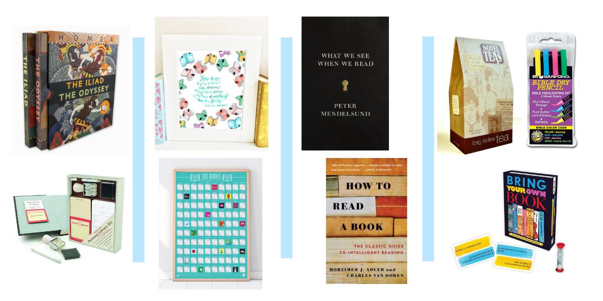 Gift idea for book lovers - books, game, book quotation, tea, novel tea