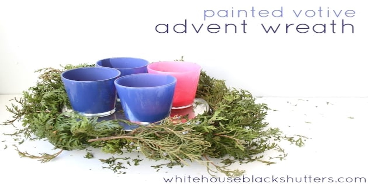 Painted Advent Wreath