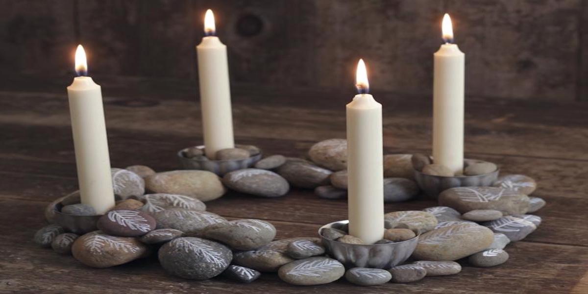 Advent Wreath of Stones