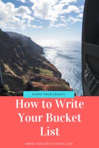Bucket List - How To Write