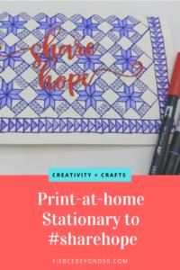 print at home stationary