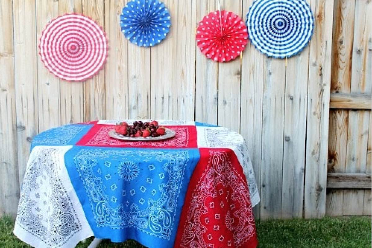 patriotic tablecloth memorial day july 4th