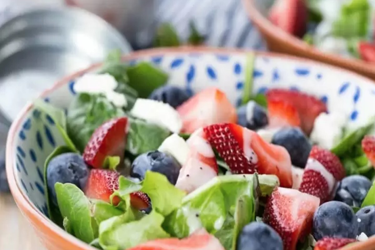 strawberry blueberry feta salad patriotic