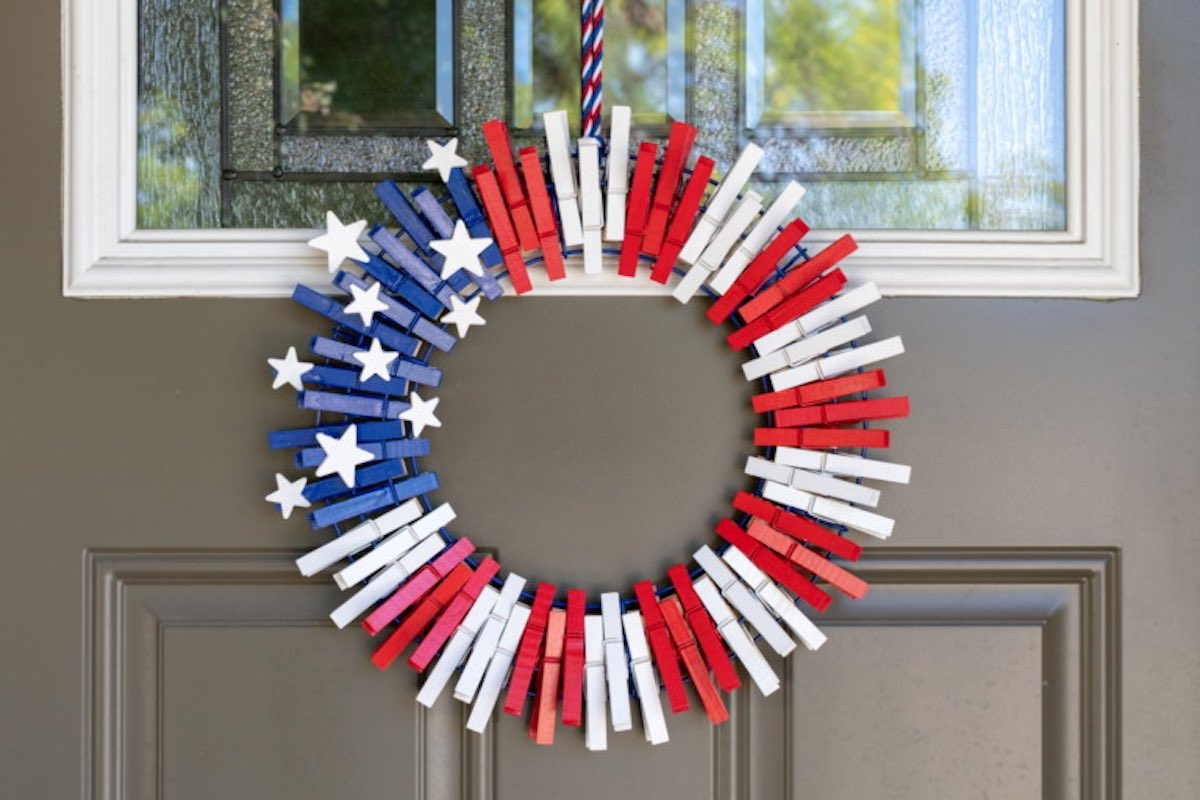 patriotic decorations crafts wreath memorial day july 4th