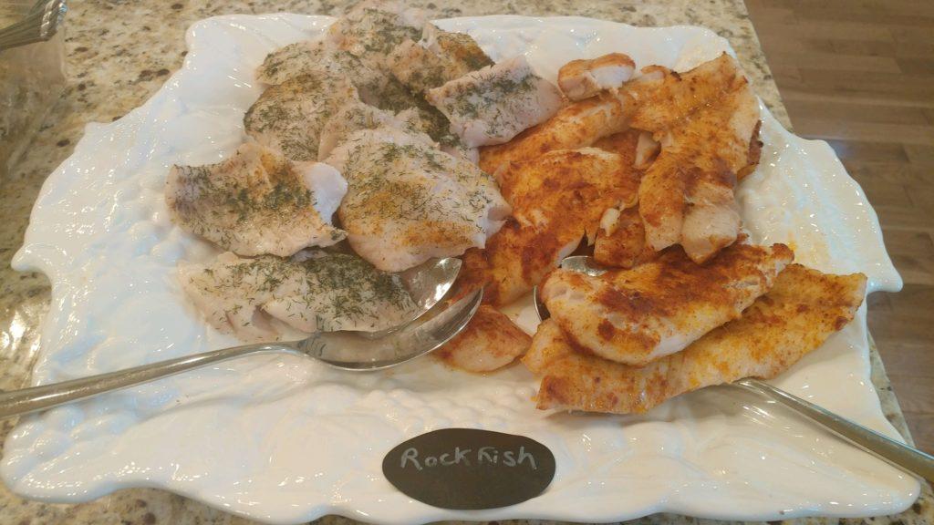 taco tuesday rockfish fish salad