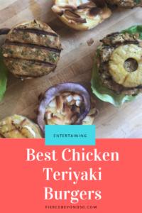grilled chicken teriyaki burgers