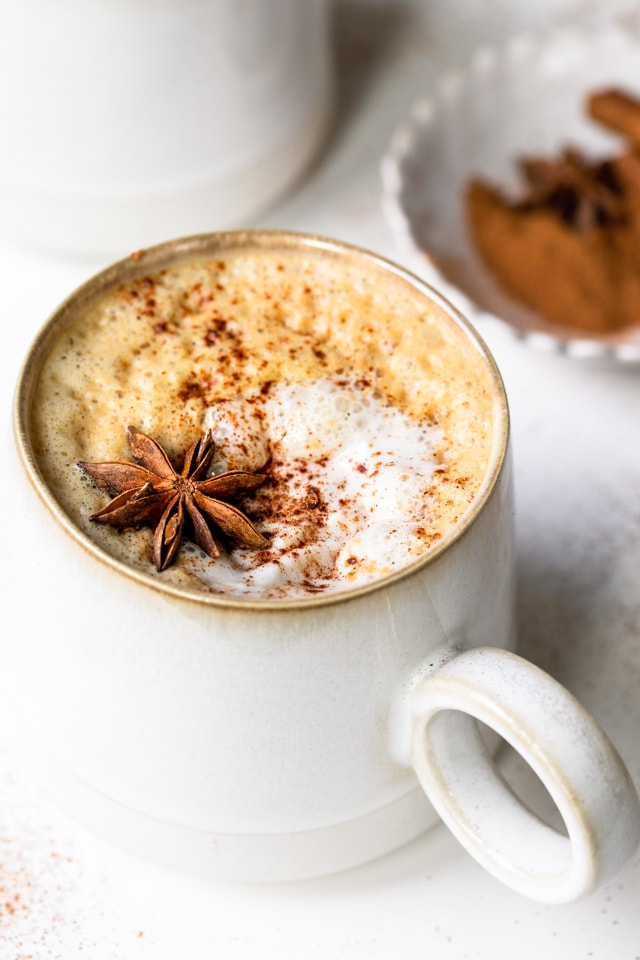 homemade pumpkin spice latte, healthy pumpkin spice latte