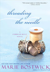 Threading the Needle by Marie Bostwick - Book Cover