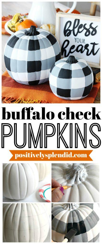 buffalo check decor, fall craft ideas