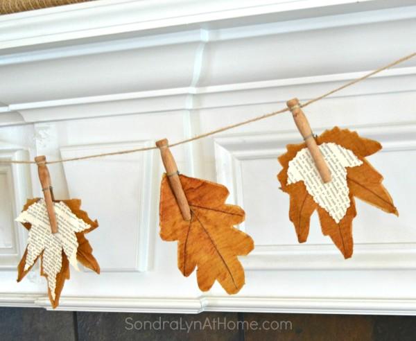 fall craft ideas, homemade fall garland, DIY fall decor,