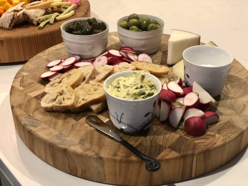 radish butter charcuterie board
