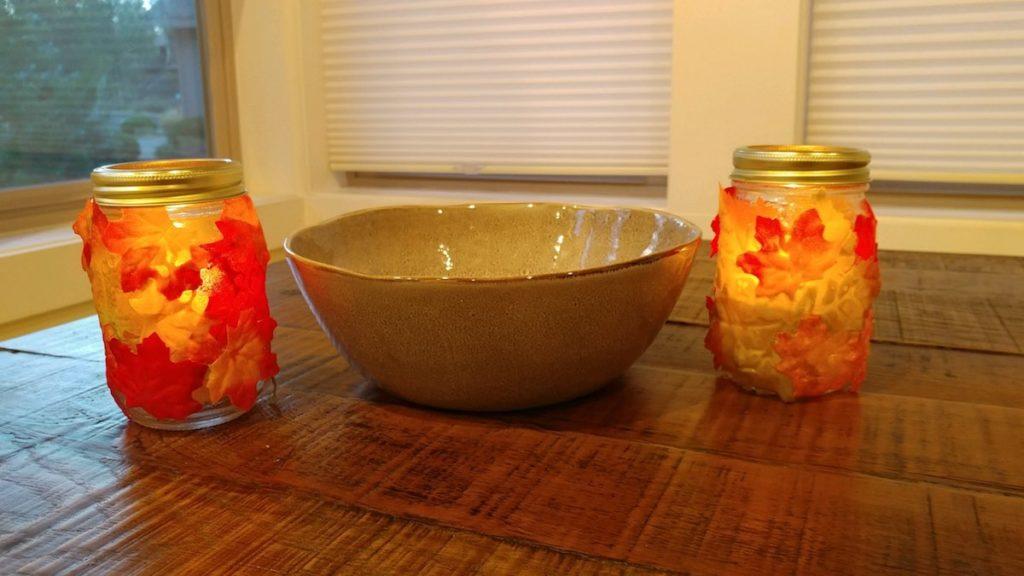 mason jar crafts, homemade votes, fall craft ideas