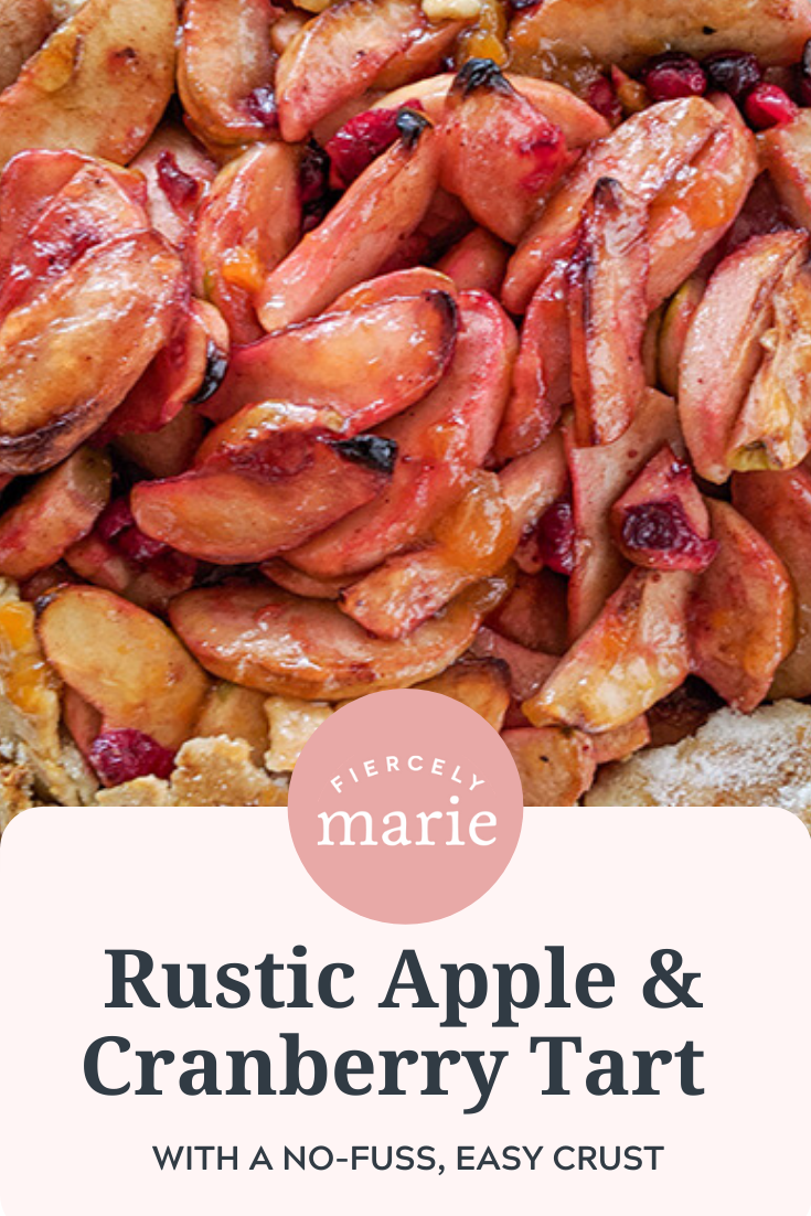 Rustic Apple and Cranberry Tart