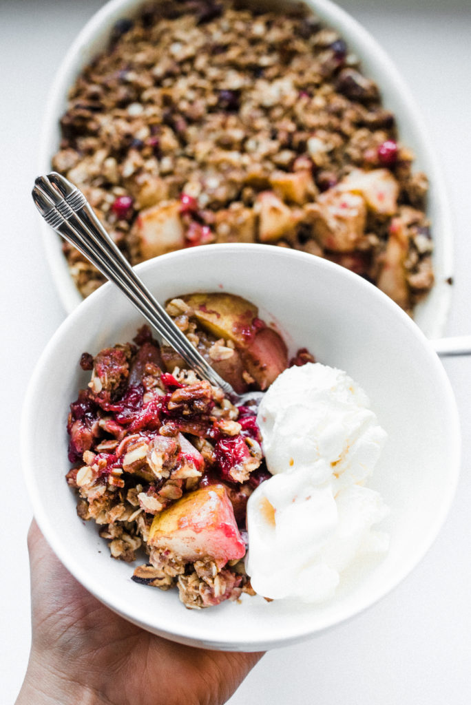 Cranberry and Pear Crumble