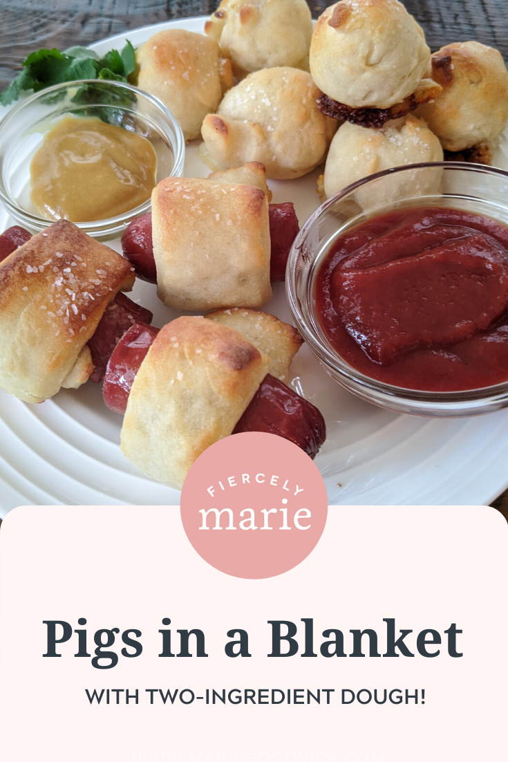 Easy Appetizers: Pigs in a Blanket - with 2 Ingredient Dough