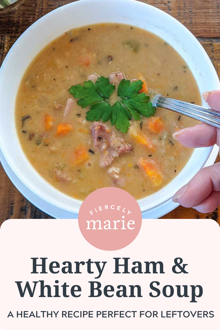 Hearty Ham and White Bean Soup