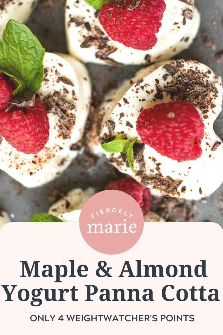 Healthy Valentine\'s Dessert: Maple & Almond Panna Cotta