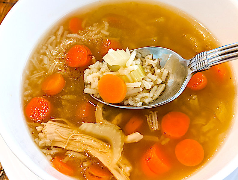 easy vegetable chicken soup