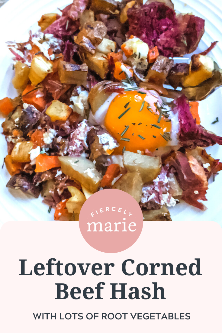 Leftover Corned Beef Hash With Root Vegetables