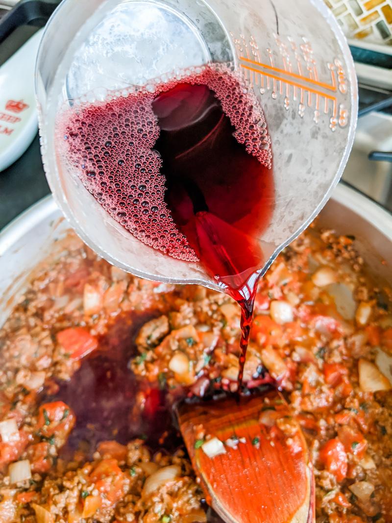 Easy Ragu Sauce with Wine