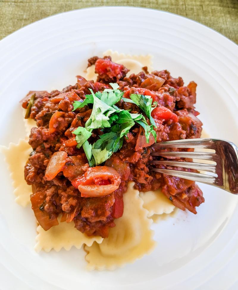 Easy Ragu Sauce with Pasta