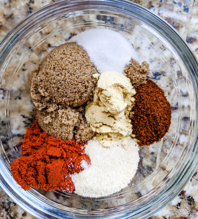 Ingredients for BBQ Dry Rub