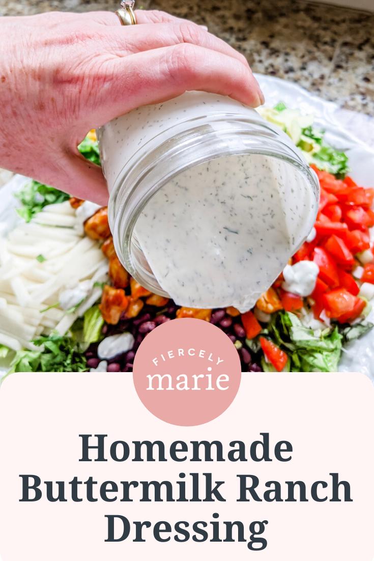 Homemade Buttermilk Ranch Salad Dressing