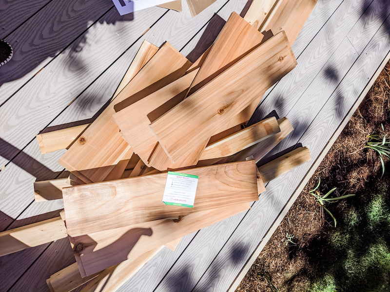 Wooden Pieces for Planter