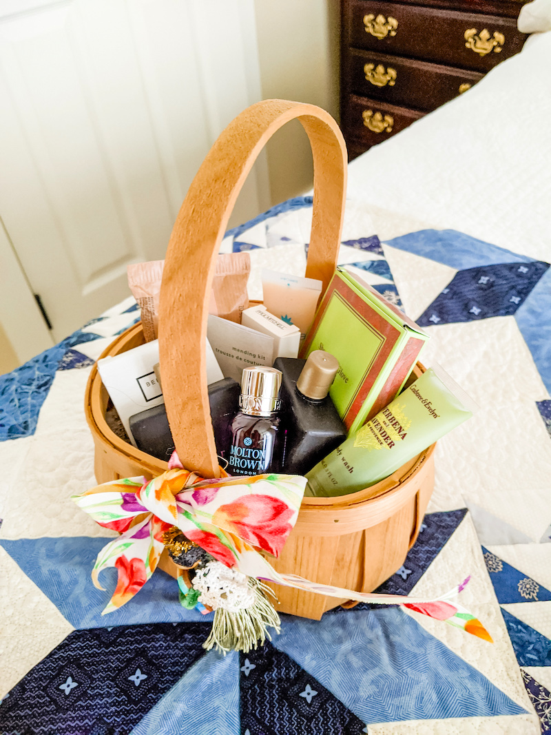 Guestroom Tips: Welcome Basket