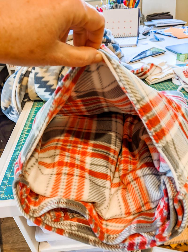 Pocket on DIY Stadium Blanket and Cushion