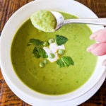 Fresh Pea Soup with Mint and Apple