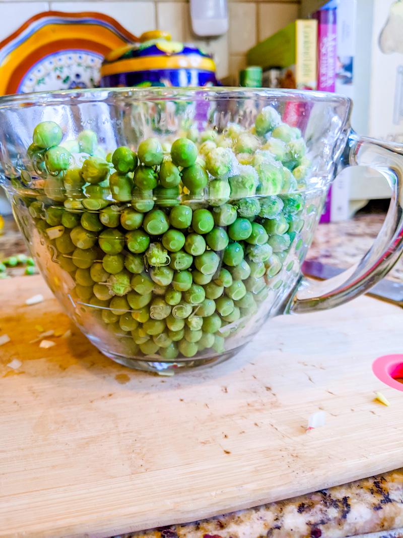 Fresh shelled peas