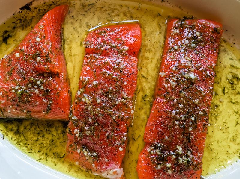 Prepped Salmon