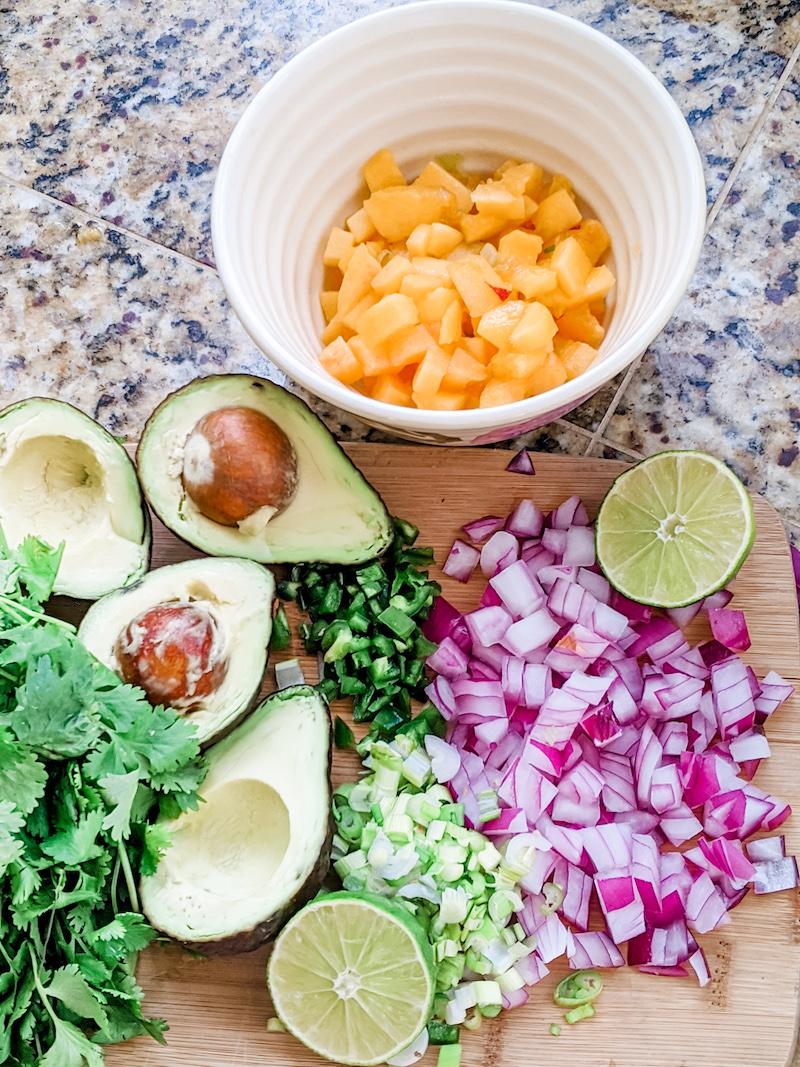 Peach Mango Salsa Ingredients