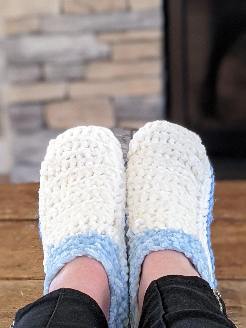 Easy Crocheted Slippers