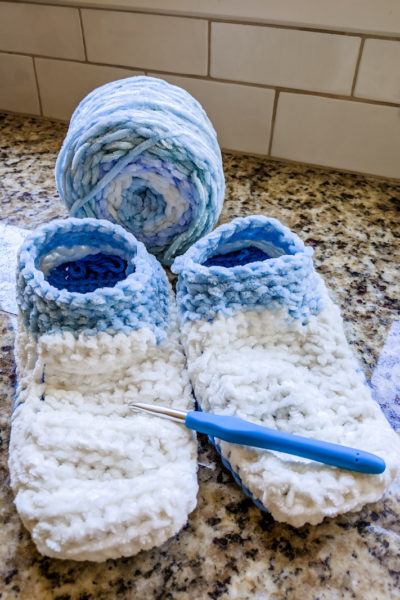 Easy Crocheted Slippers
