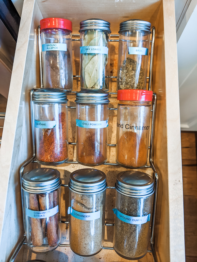 Organized Spice Rack
