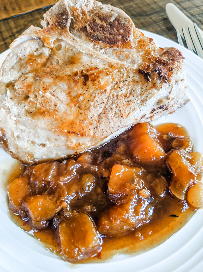 Peach Chutney served with Naan