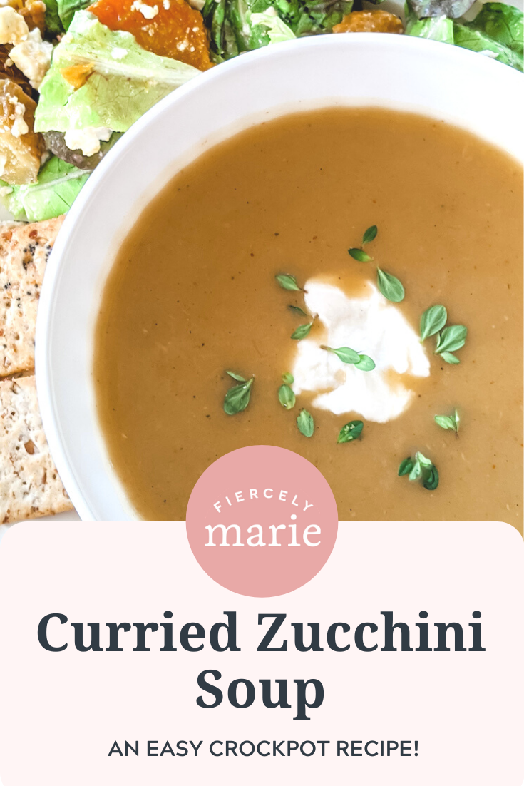 My Crockpot Curried Zucchini Soup