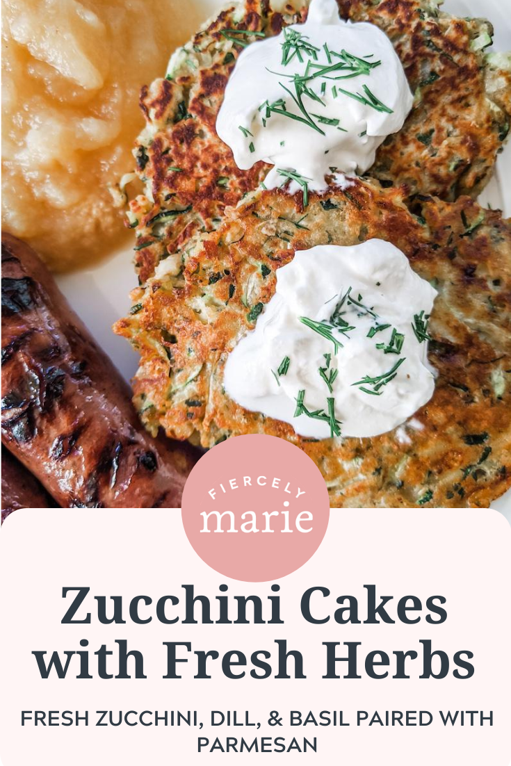 Savory Zucchini Cakes with Fresh Herbs