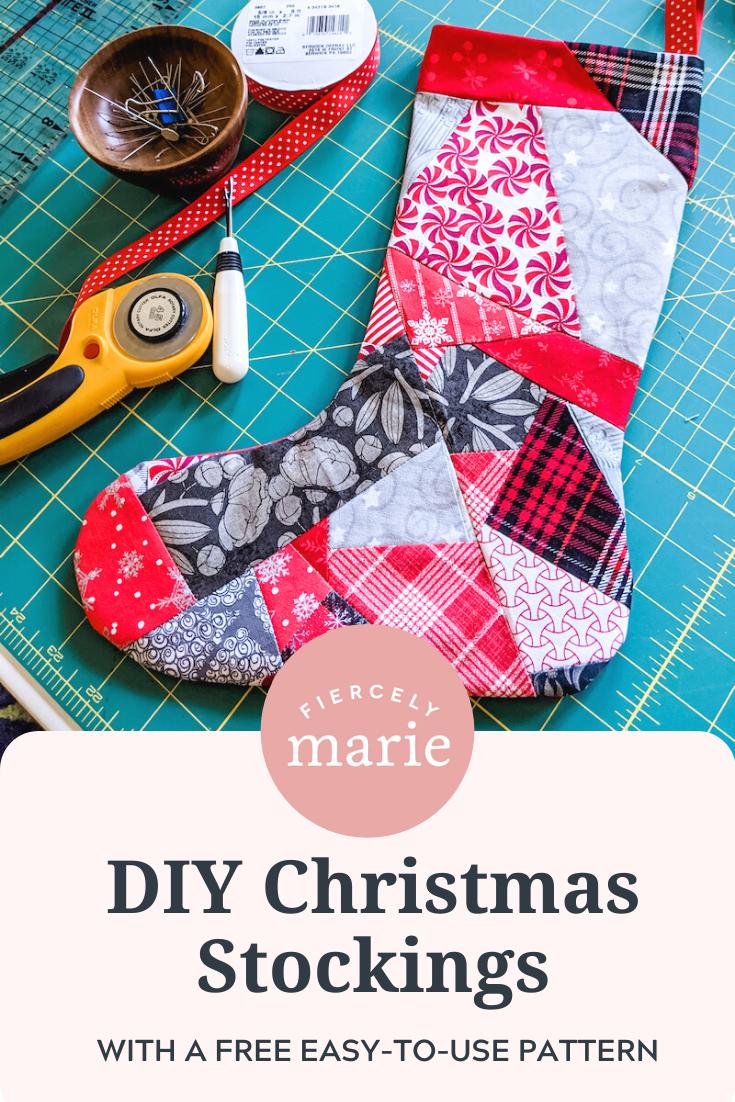 Easy Patchwork DIY Christmas Stockings
