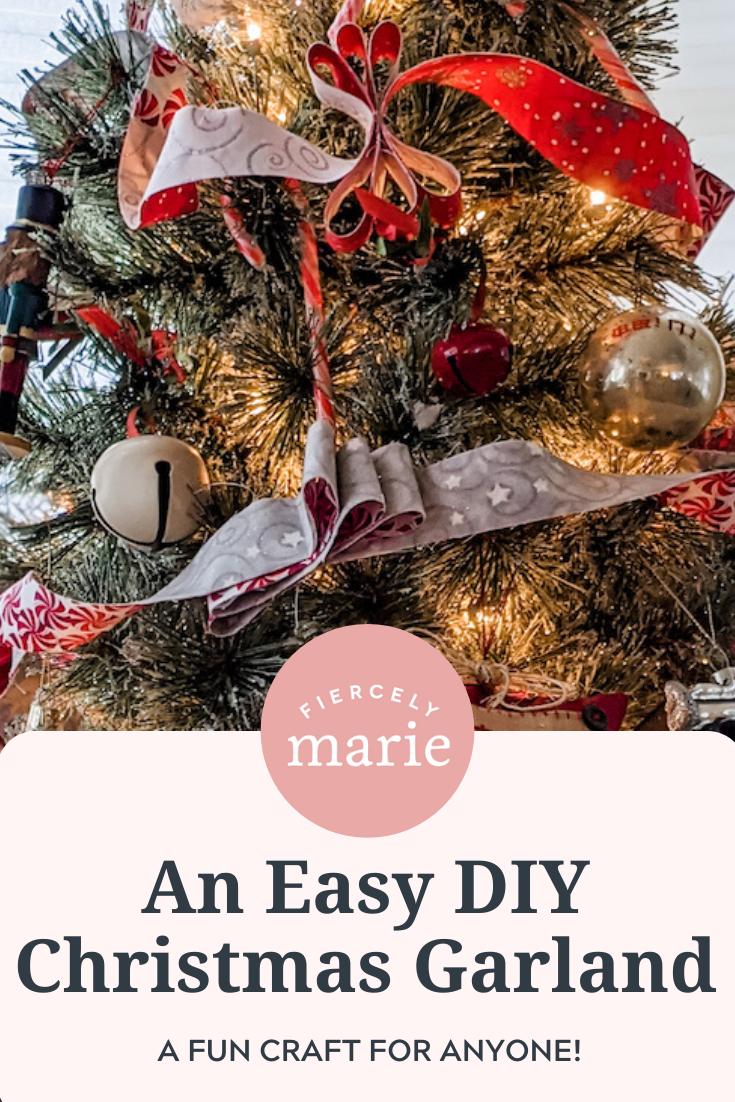 Fabric DIY Christmas Garland