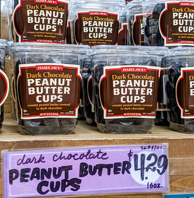 Dark Chocolate Peanut Butter Cups, a Trader Joe's Winter Favorite